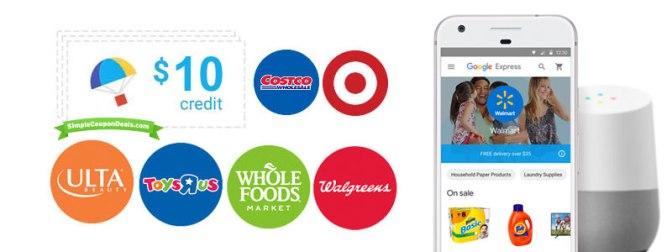 Free $10 Google Express Coupon – Potential Wal-Mart Arbitrage / Free Stuff!