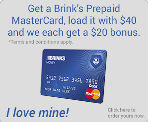 Brinks Prepaid – Get $20 Instantly